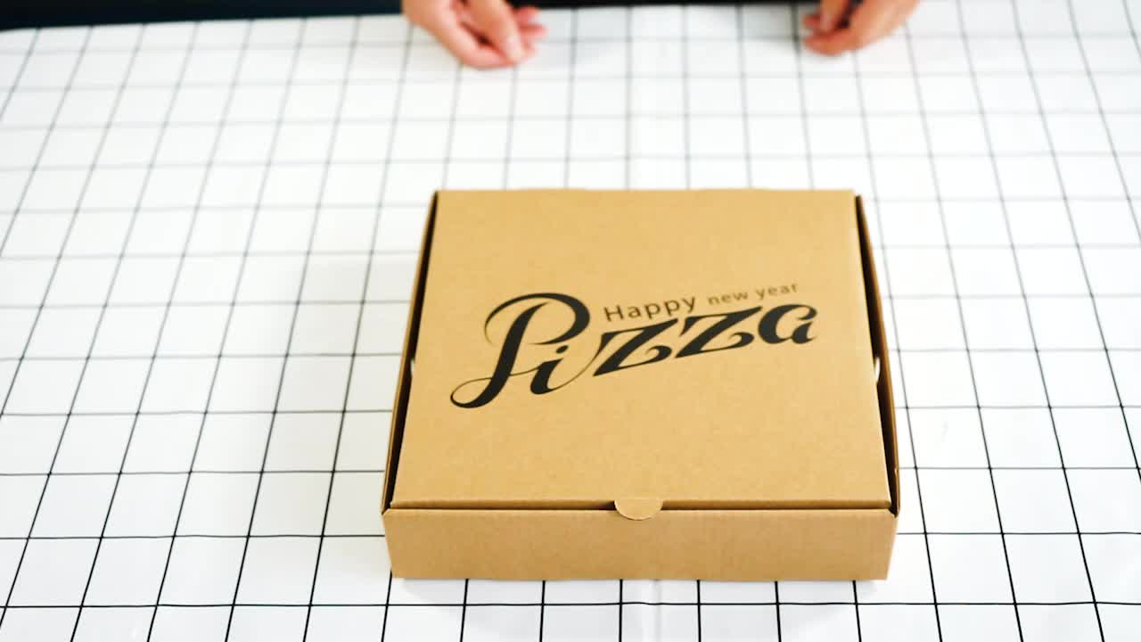 Wholesale high quality chinese products custom biodegradable kraft paper pizza box fast food box take away food box