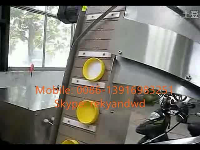 30-100 garrafas/min Automática linear frasco plástico máquina tampando do parafuso