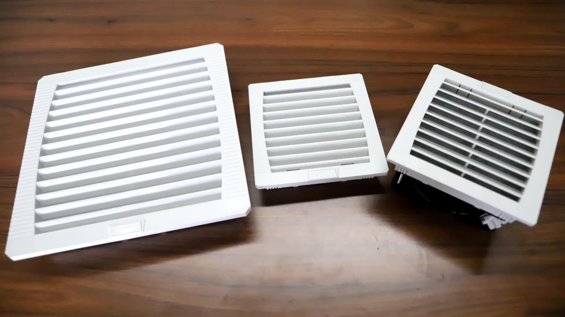 145*145 Mm Filter Industri Kipas Angin Listrik Kabinet Kipas Pendingin Exhaust Filter