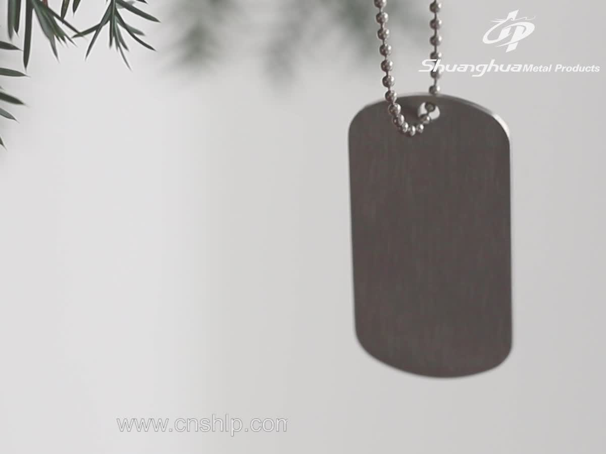 metal military custom logo enamel dog tag for sale