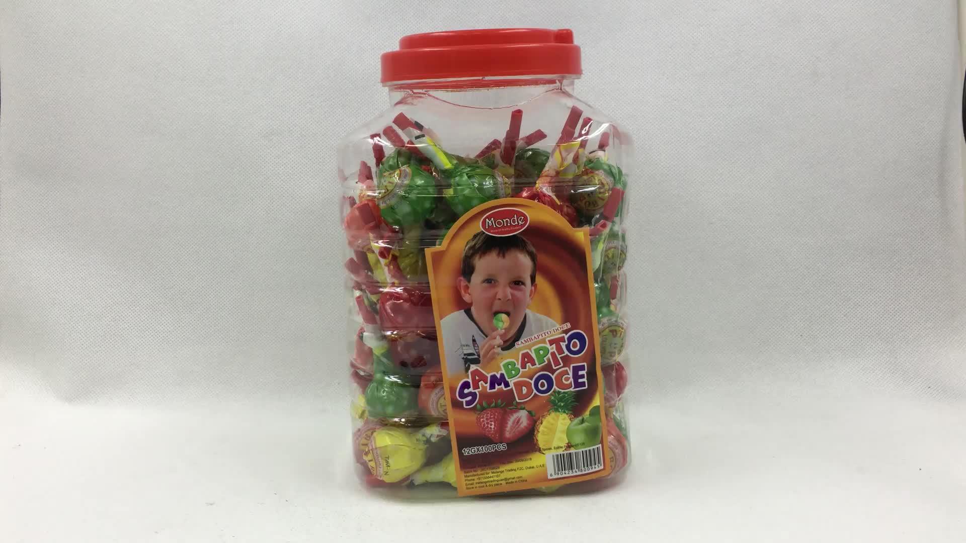 Popular Plastic Whistle Stick Round Lollipop Brands