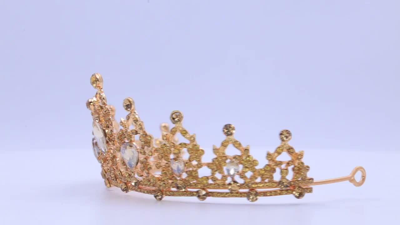 Bulk Princess Rhinestone Crystal Beauty Custom Big Pageant Queen Miss World Crown And Tiara wedding dress accessories
