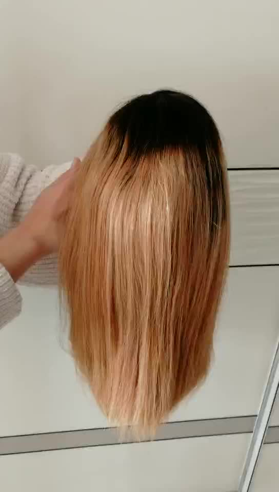 Cheap Pre Plucked Side Part Partial Ombre Dark Root Virgin