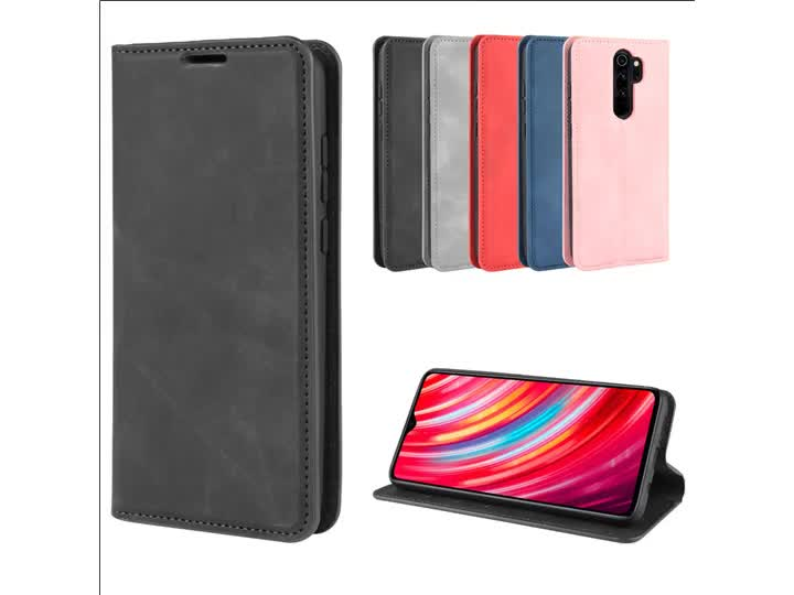 Soft skin touch feeling mobile phone case for redmi note 8 pro wallet case