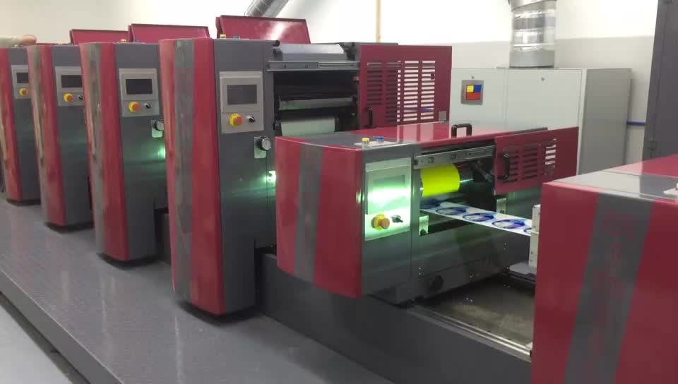 350mm 4 kleur semi rotary offset label printing machine