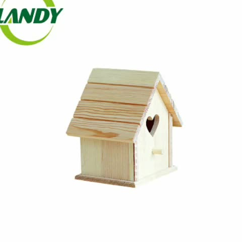 Custom Logo and Color FSC Certified Flat Pack Bird House