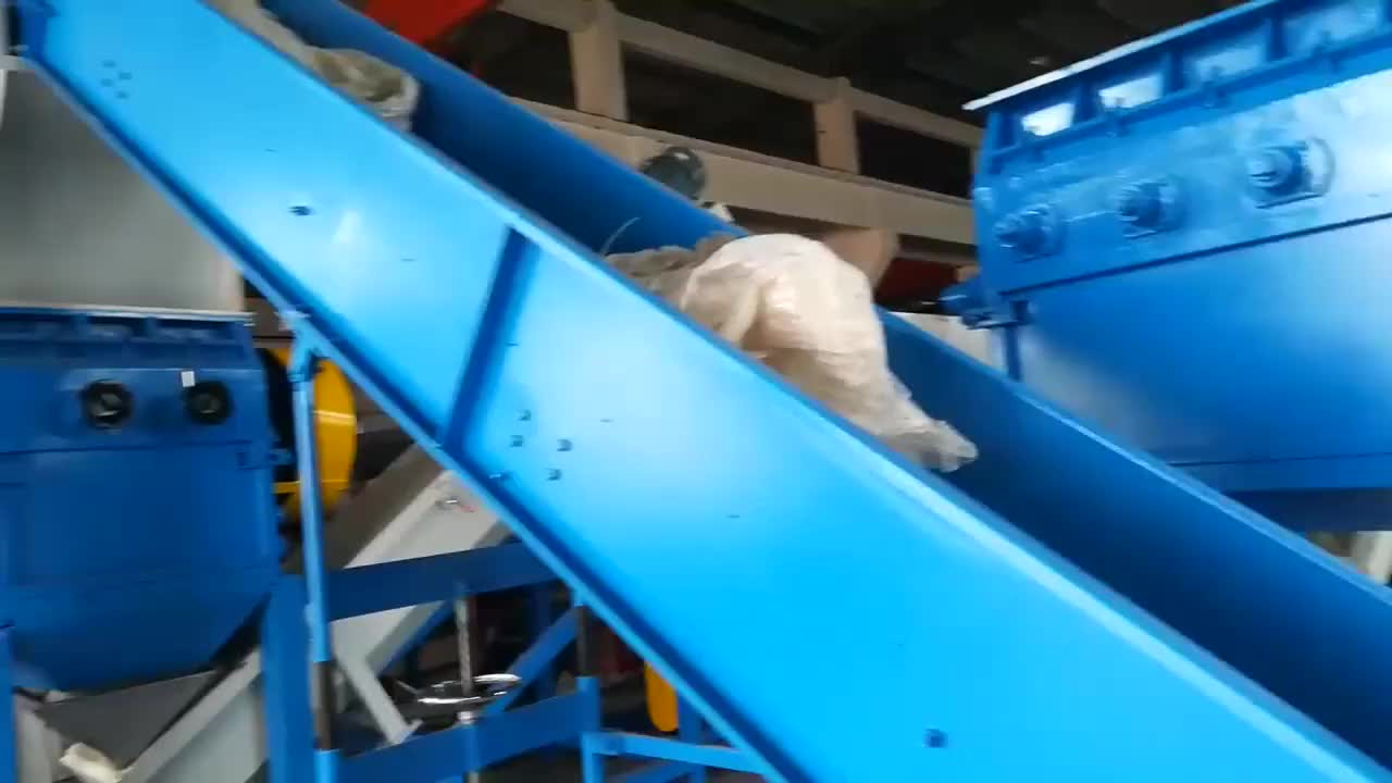 300-1000kg/h pe pp film washing recycling machine for sale