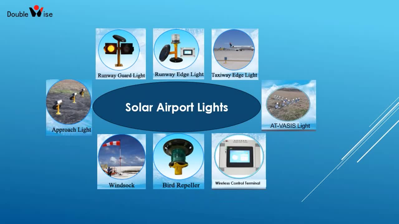 Doublewise led solar airfield airport runway edge light