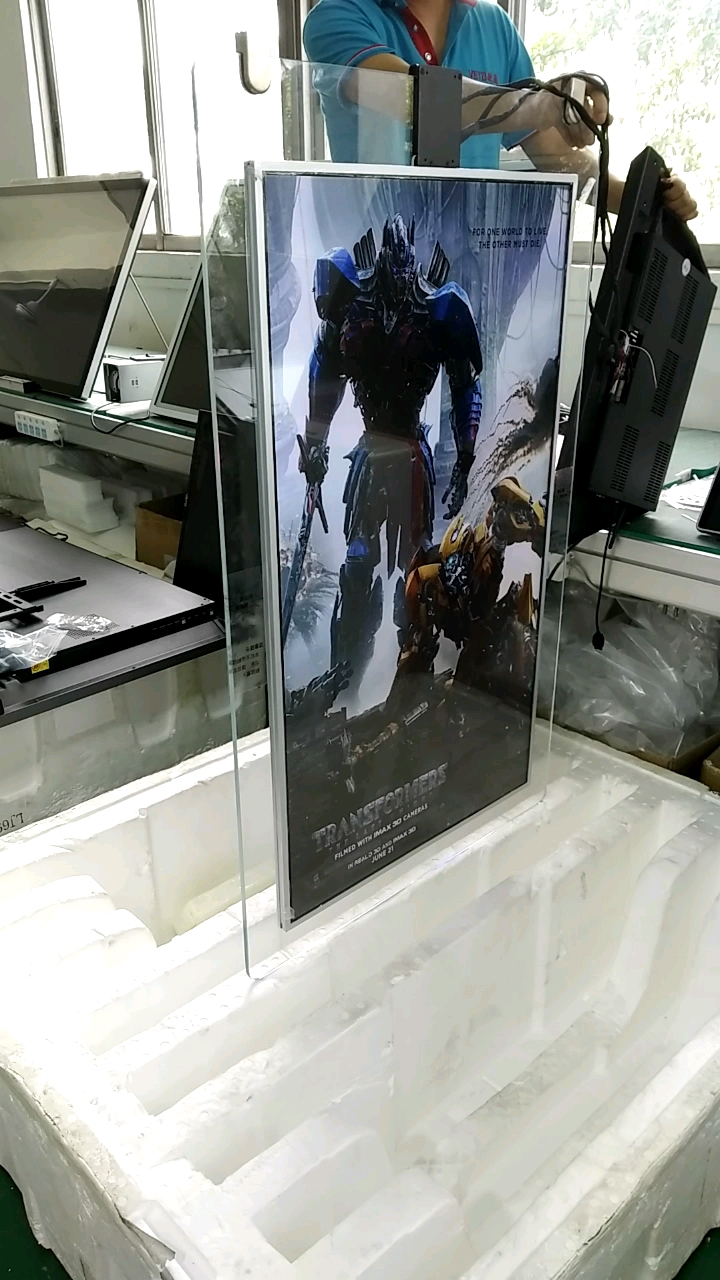 55 inch indoor double sided Hanging LCD smart digital signage for shop window advertising display