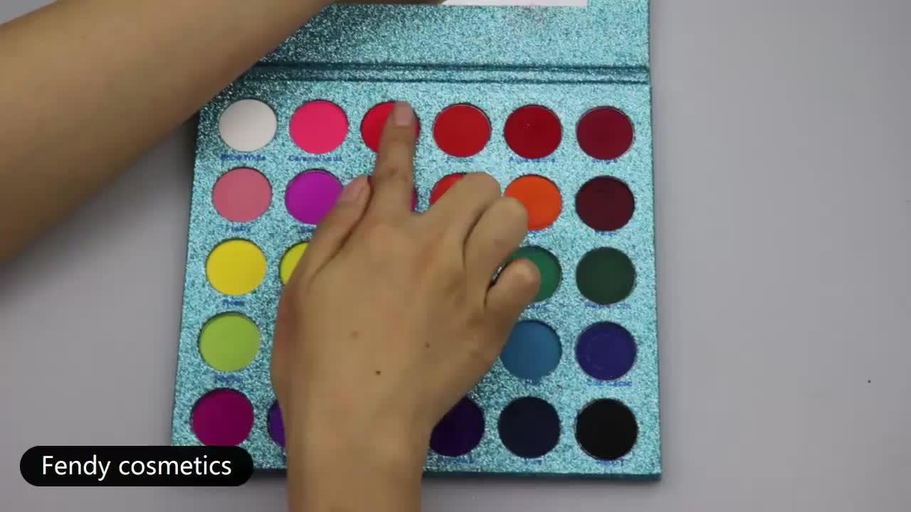 아름다운 최고의 공식 30 색 메이크업 블루 반짝이 아이섀도 팔레트