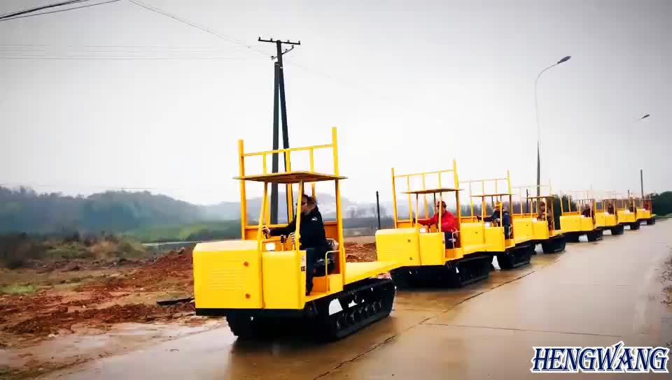 farm and transportation used 3 ton crawler tractor and transporter dumper