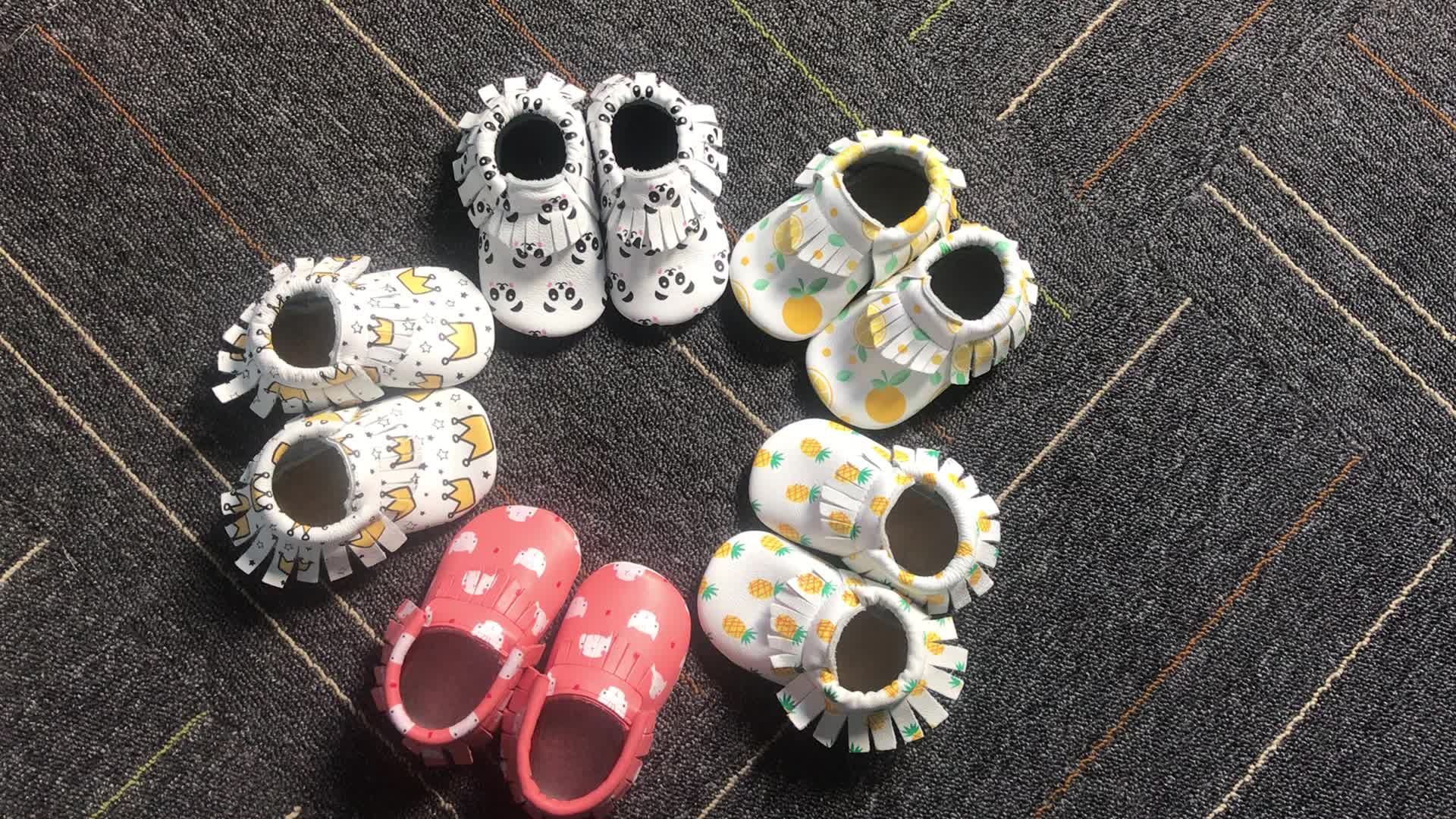 2018 new kids shoes wholesale baby moccasins toddler leather shoes