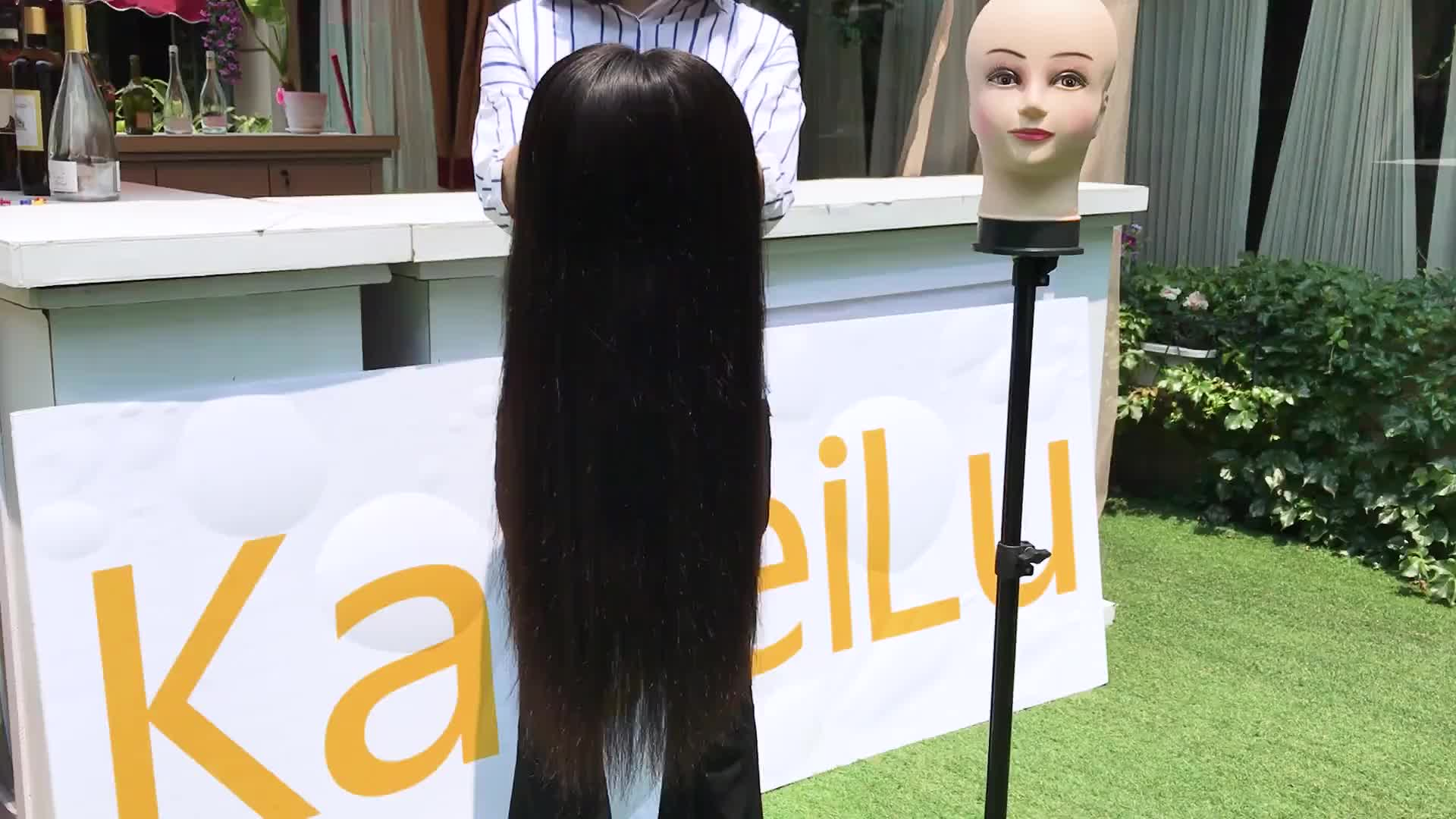 Alibaba hot sale lavender lace front wig, 70s wig, all black middle part lace front wig