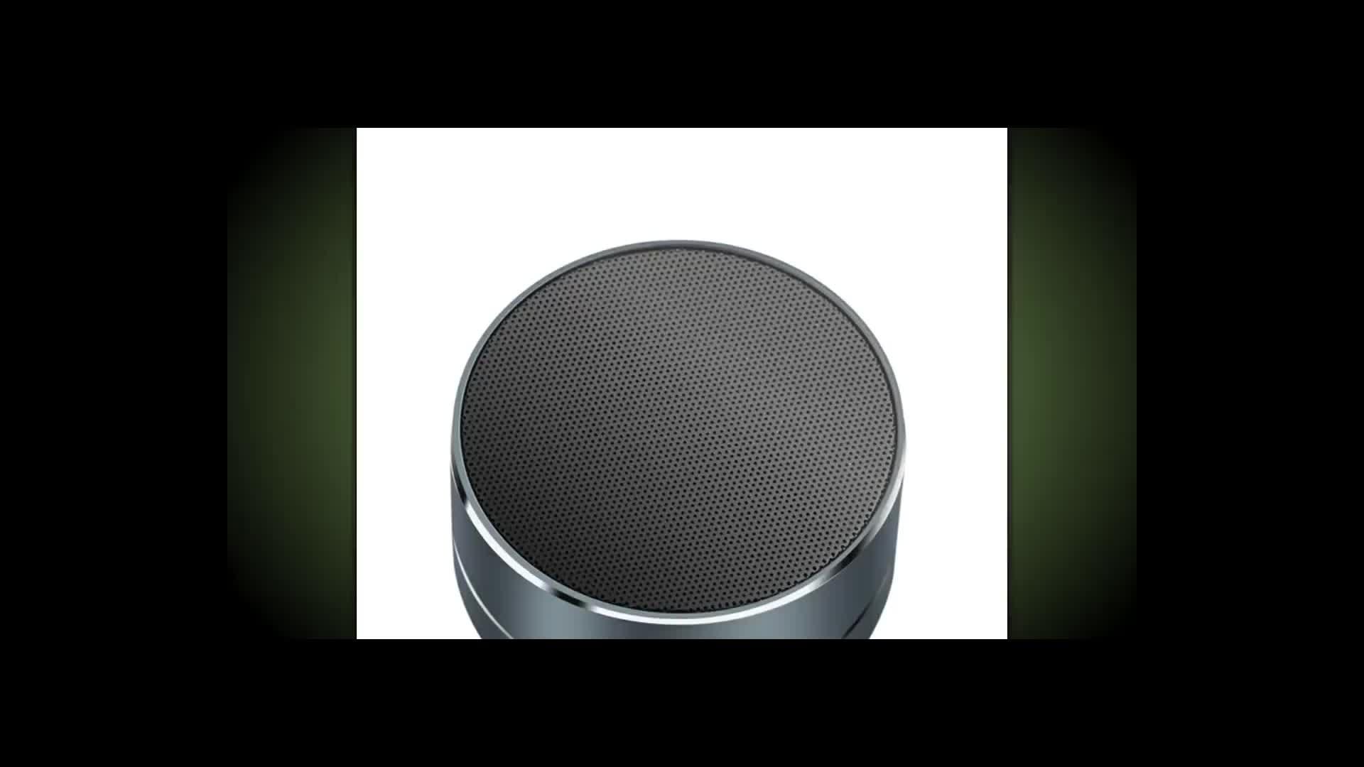 Mgitec A10 music dj sound box wireless speaker, creative speaker volume control, led metal steel mini portable speaker A10
