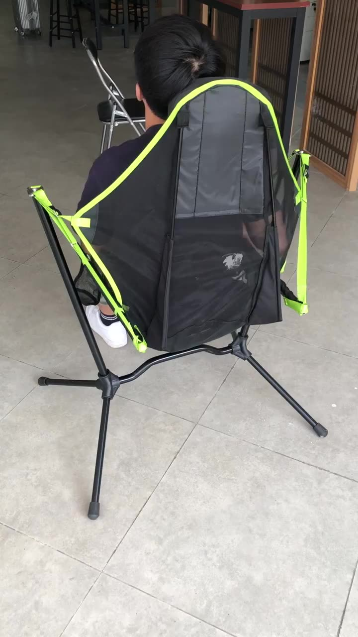 Portable backpack outdoor beach aluminium swinging rocking camp foldable relax folding recliners camping chair for kids