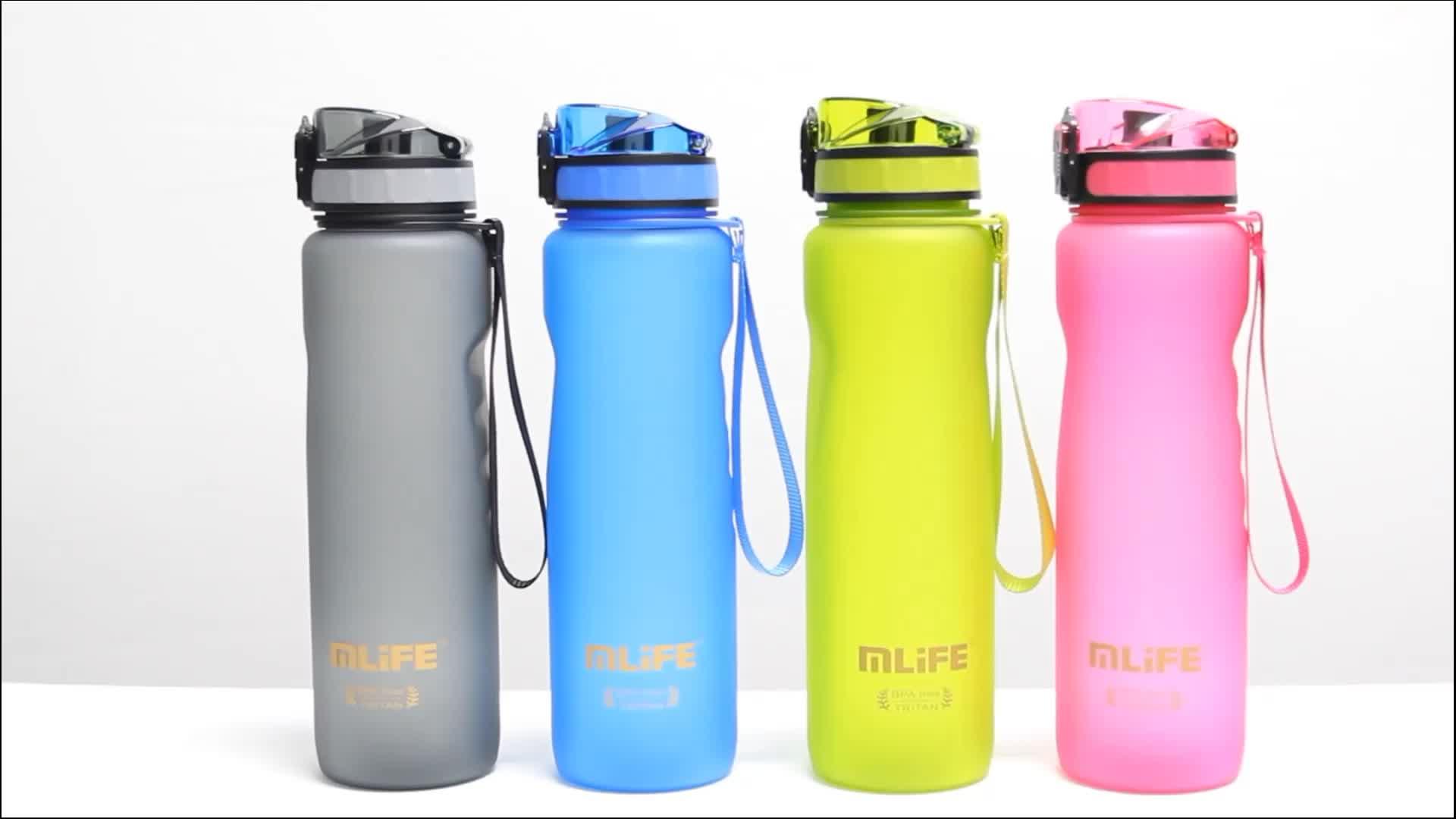 Mlife 1000ml BPA Livre Tritan Plástico Portátil Garrafa de Água de Esportes