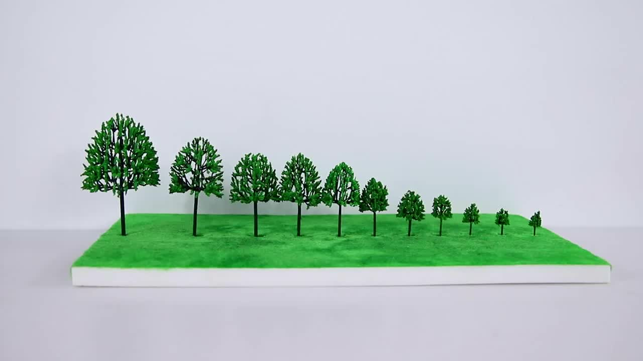 Cheap Price Plastic Architectural N Ho Scale Building Model Train Tree For Model Making Tree