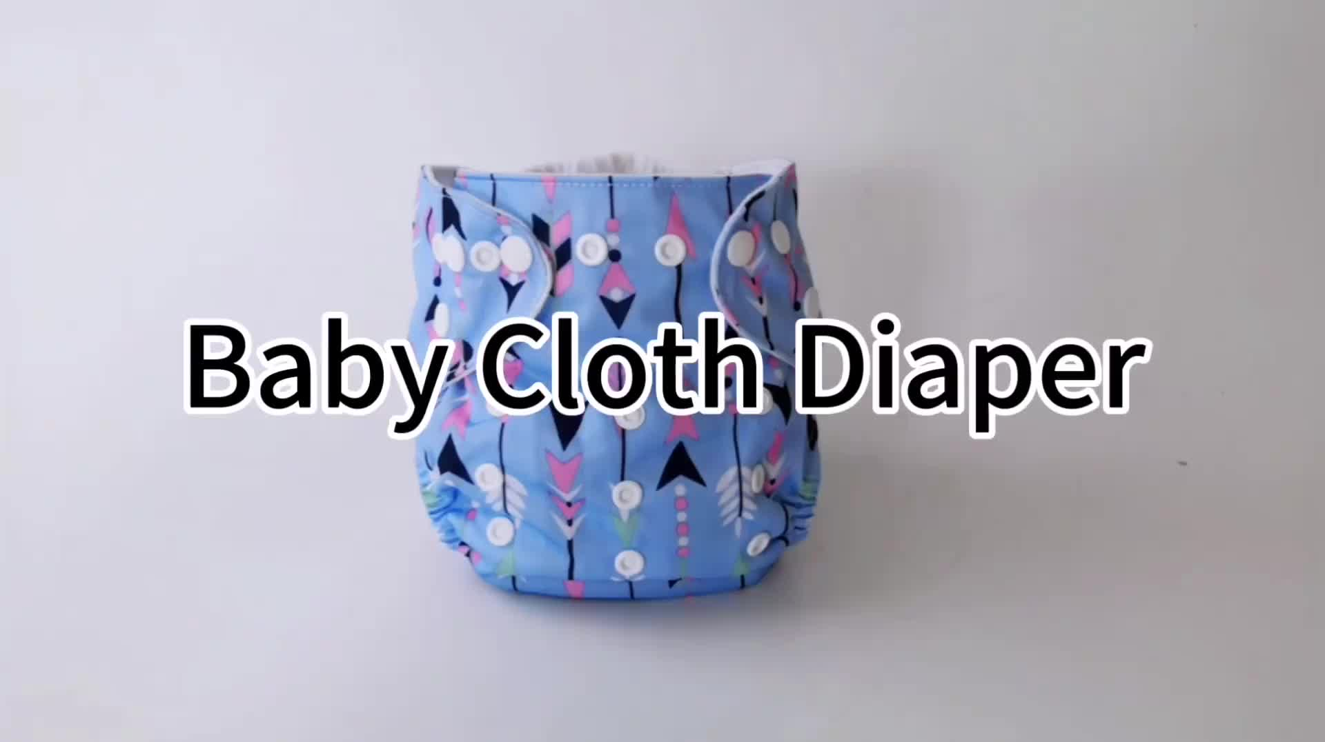 New pattern chinese all in one size washable cloth diapers babies