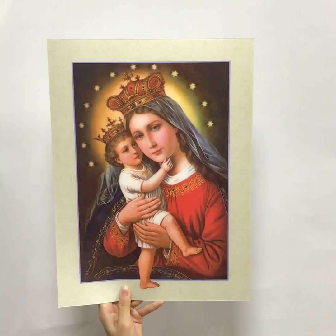 3d change flip picture of Jesus Christ lenticular 3d printing art image