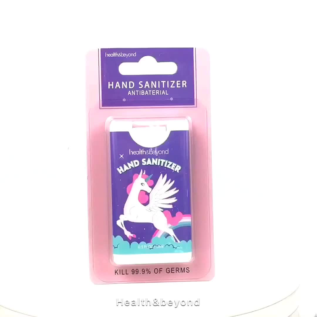 fda approved mini size New design credit card size antibacterials hand sanitizer gel spray