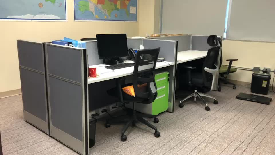 Double Sided Office Desk With Drawers And Good Quality Hardware Parts Table