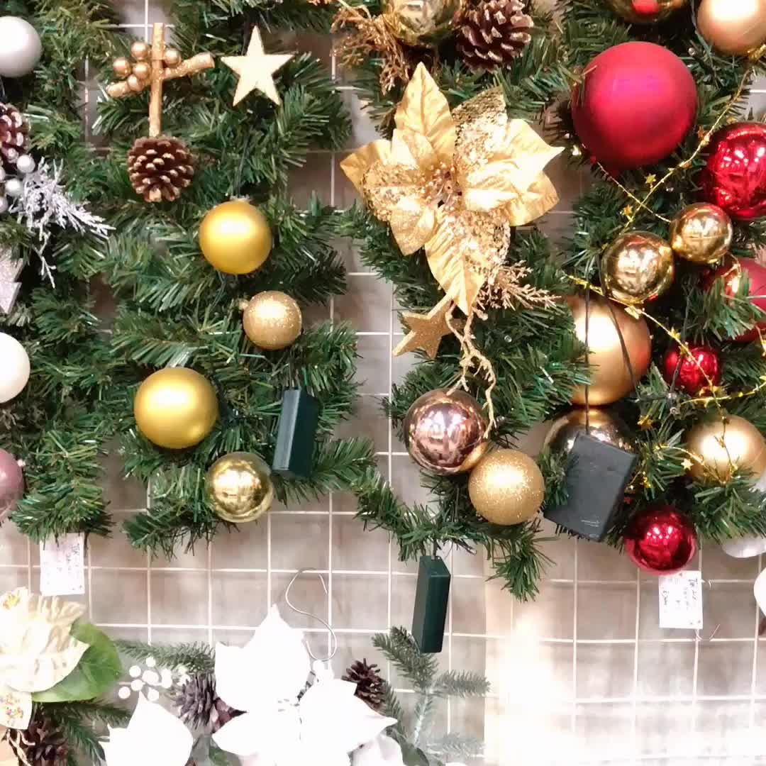 2020 high quality pvc Artificial pre lit christmas garland
