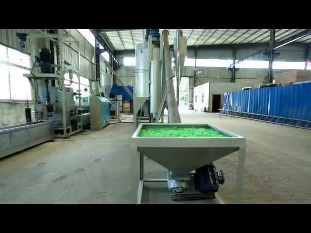 PET bottle Flakes Raw Material Double Line High Yielid PET Strap Making Machine