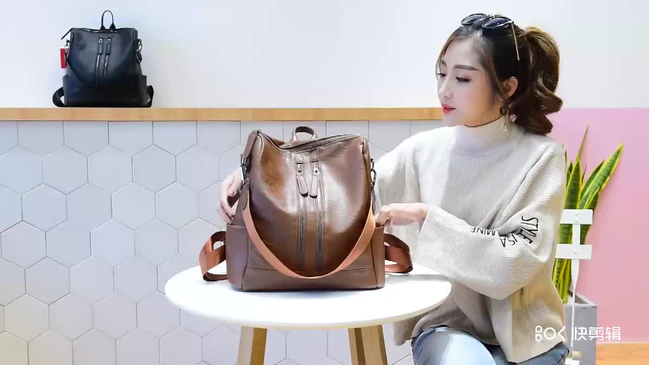 NEW arrival  fashion women Leather backpack Casual style