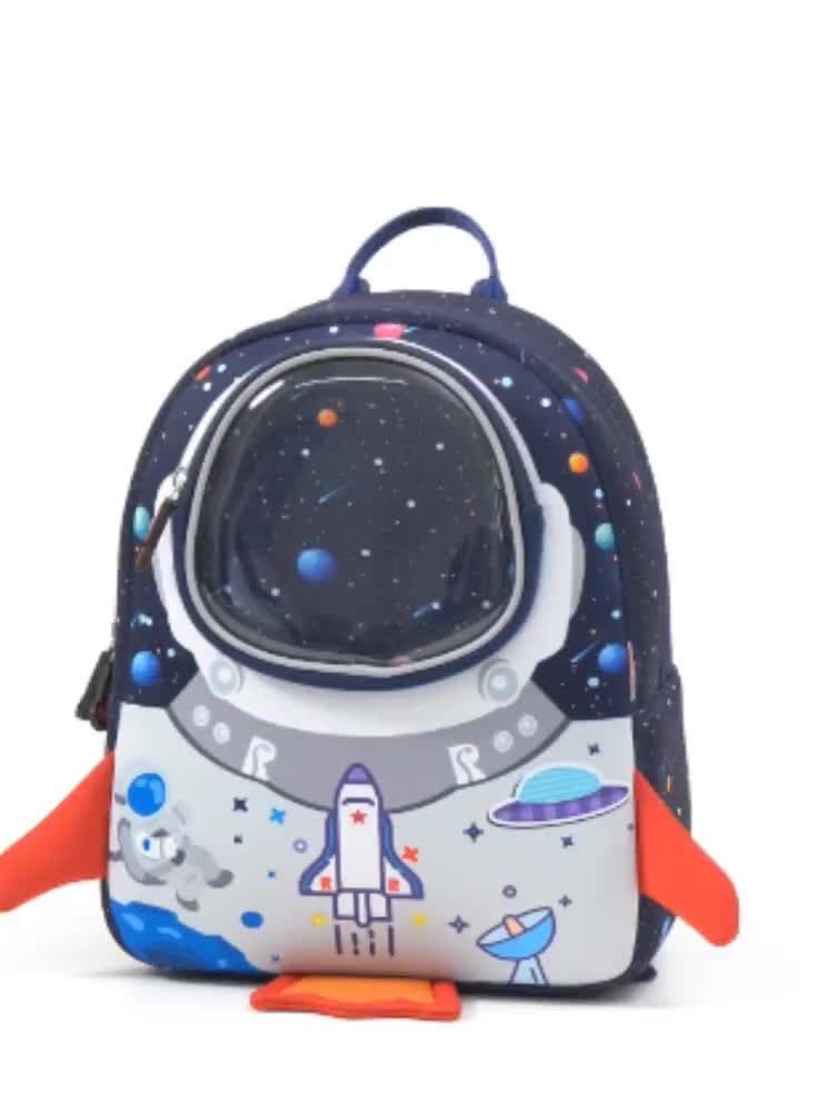 Latest Small Kids School Bag Cute outer space Pattern Book bag for perfect for daily use and great gift for kids