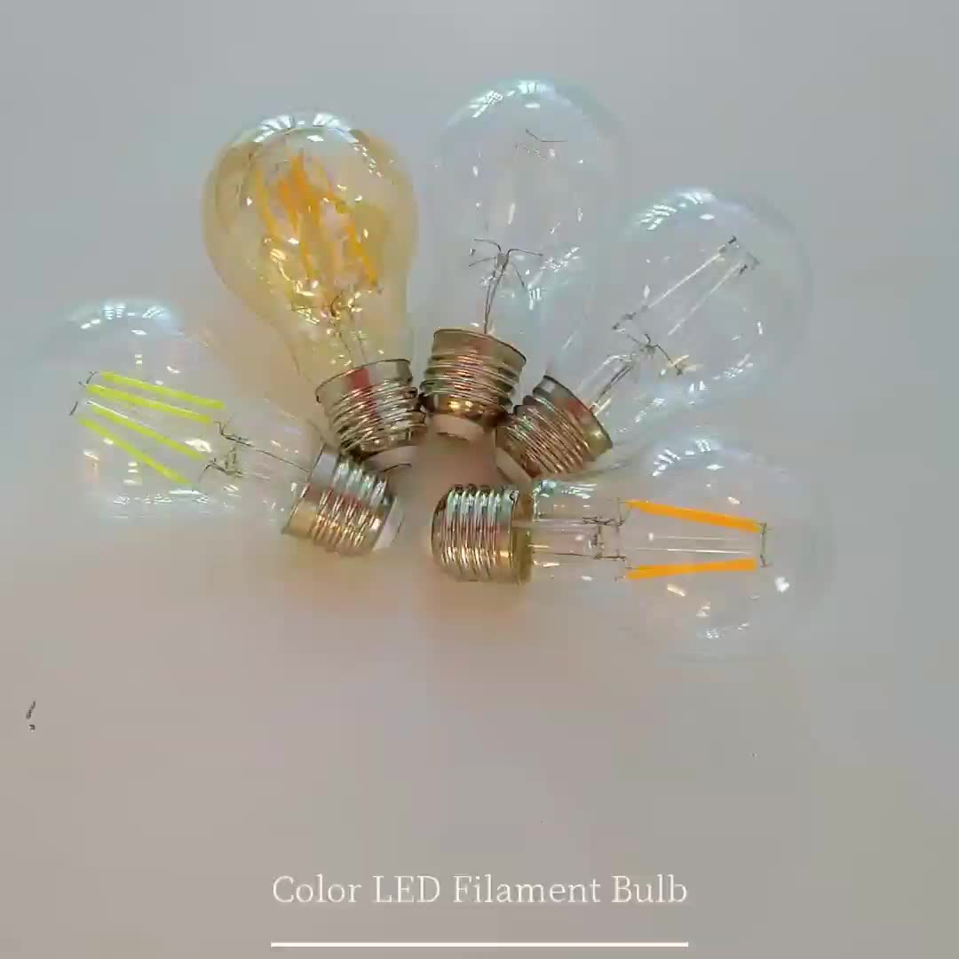 C35 A60 G45 G80 G125 ST64 T45 6W dimmable led filament bulb light, 4W 6W 8W 10W 12W 15W led filament bulb e27