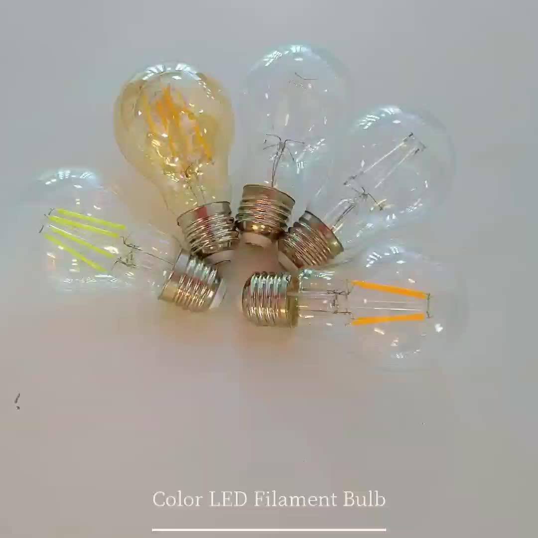 C35 A60 G45 G80 G125 ST64 T45 6 W thay đổi độ sáng led bóng đèn dây tóc ánh sáng, 4 W 6 W 8 W 10 W 12 W 15 W led bóng đèn dây tóc e27