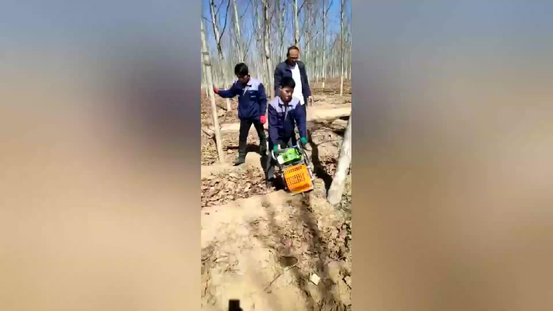 Ağaç dikme makinesi araçları 2.2kw benzinli orman ağacı hareketli makine