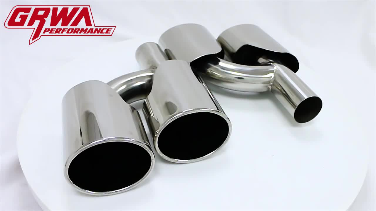 In stock Performance Car Parts Stainless Steel Dual Mirror Polished Exhaust Tips For AMG Benz W204