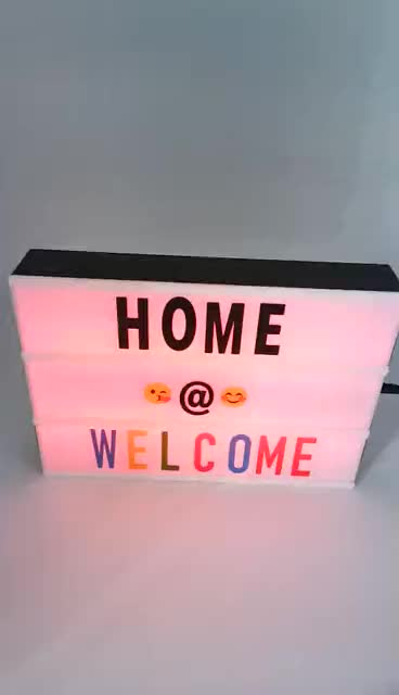 Mini A4A5A6 led color changing cinema light box with letters for wedding and party decoration