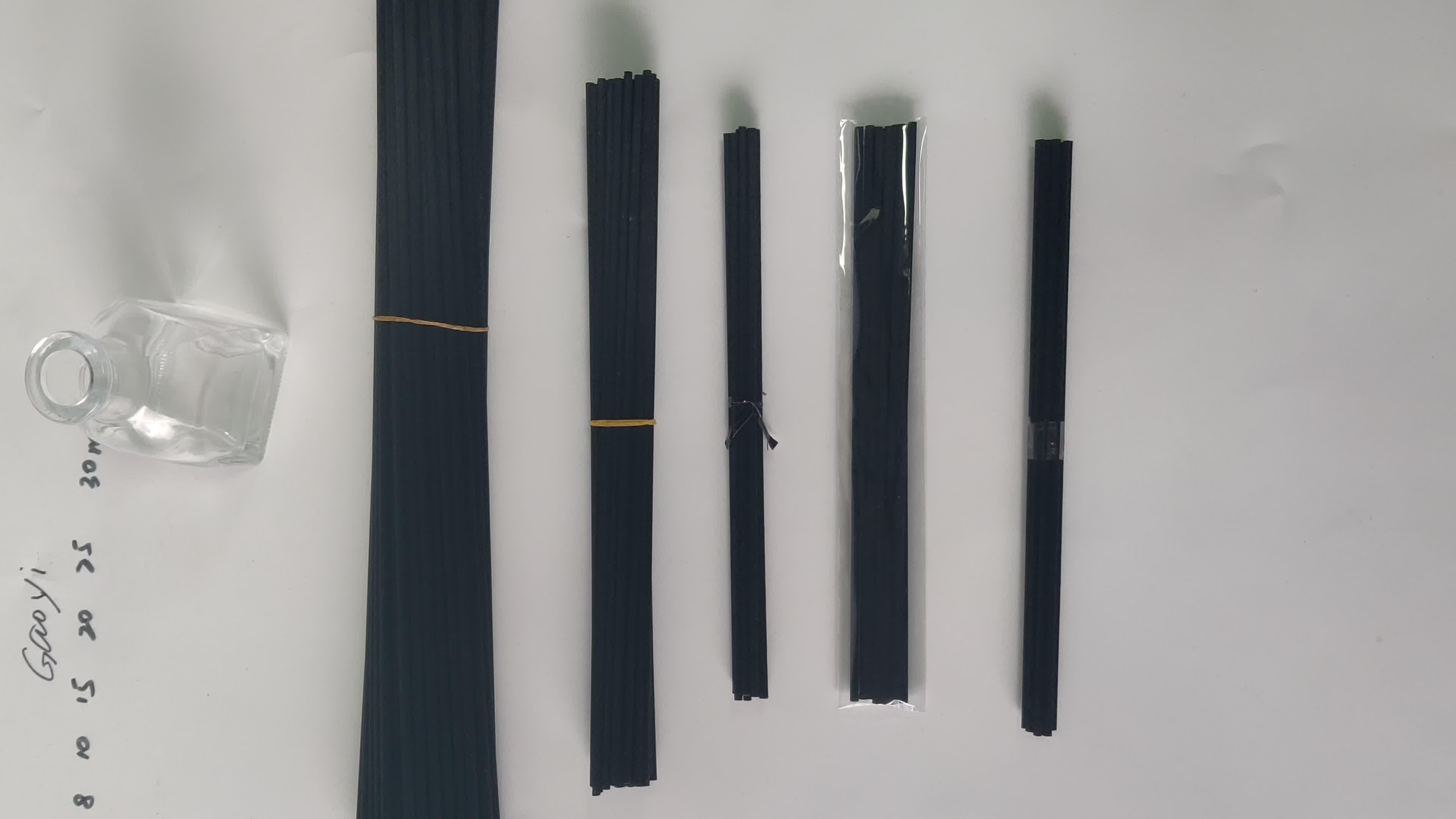 Gratis verzending 3000 stks 4mm x 30 cm zwarte fiber riet diffuser stok