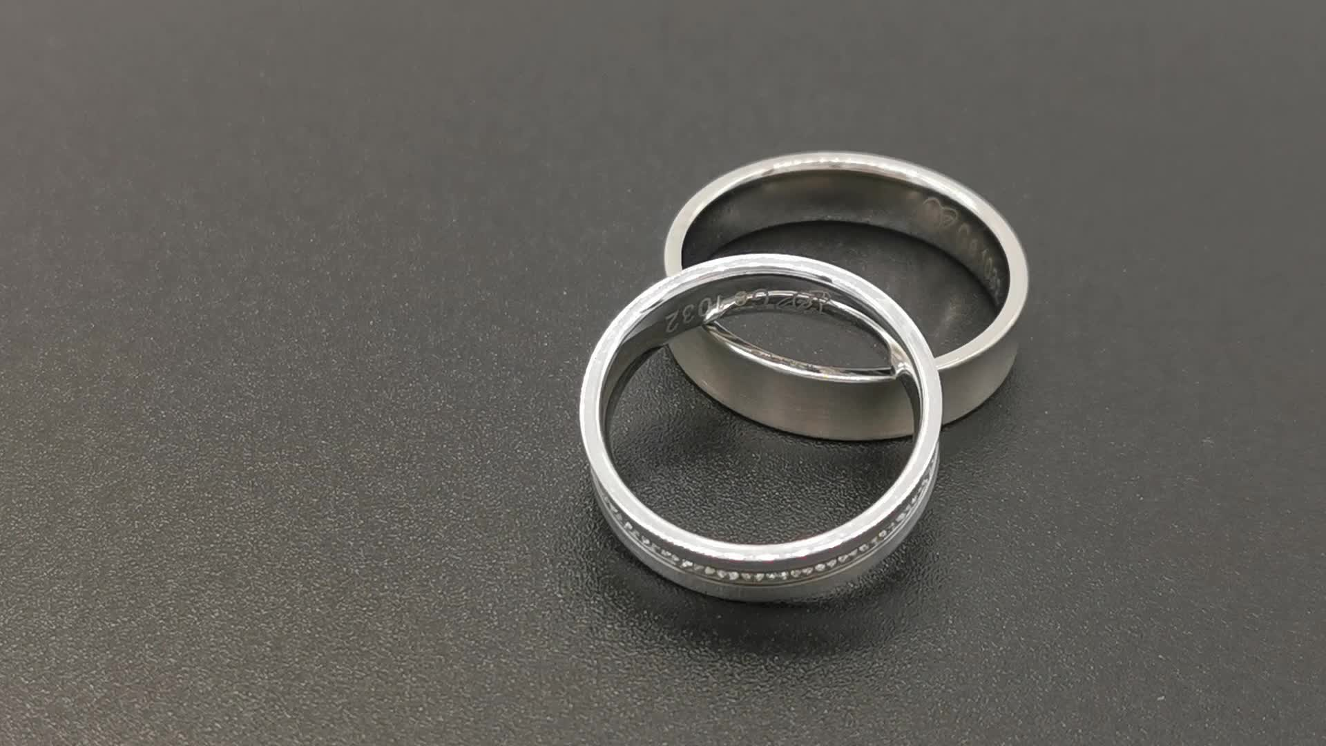 High quality fashionable rings men napkin rings wedding rings jewelry tungsten carbide wedding band sets