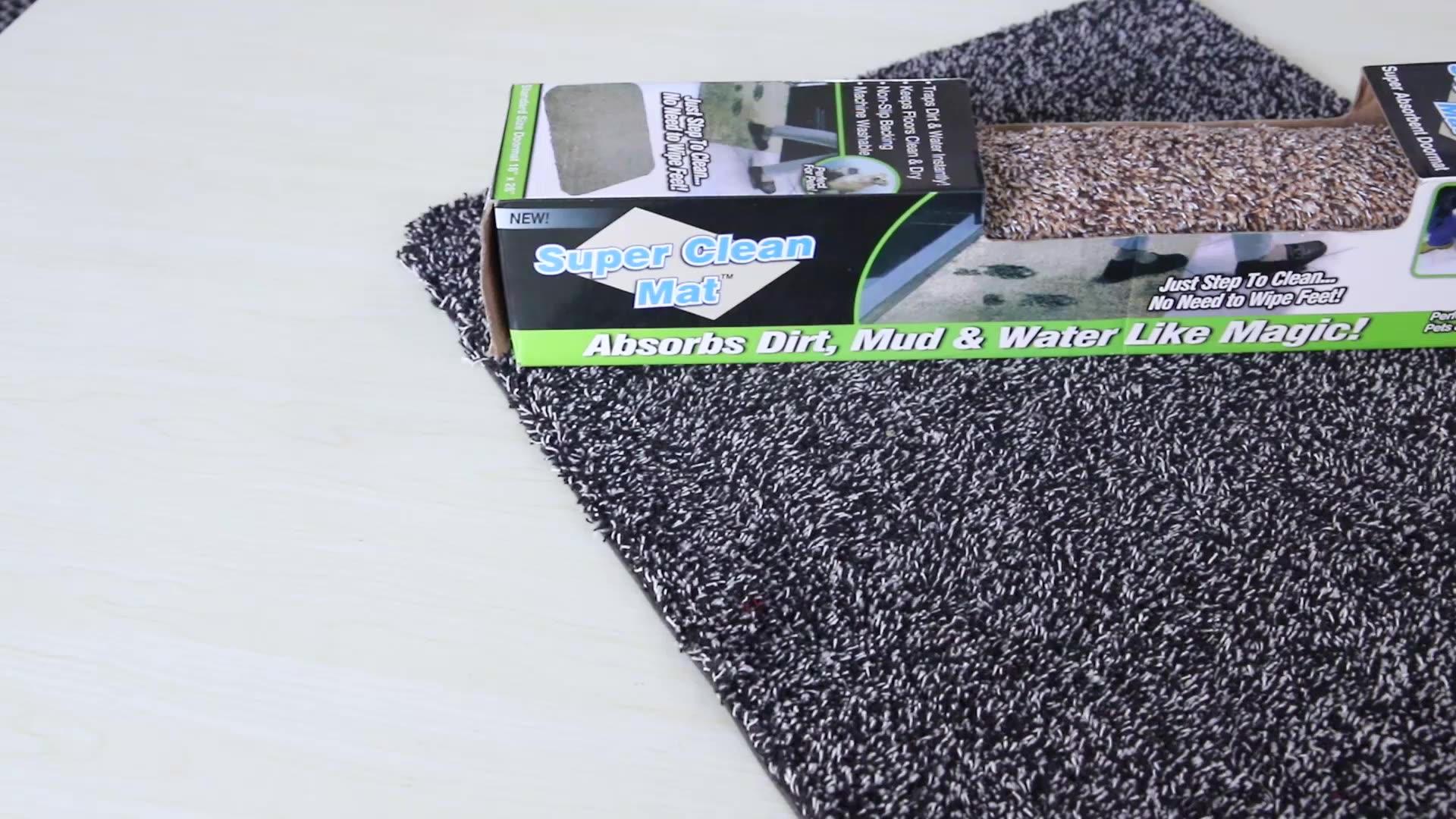 Sihirli paspas emer çamur paspas kaymaz kauçuk geri düşük profilli giriş kapısı paspası büyük pamuklu ayakkabı kazıyıcı Pet Mat amazon