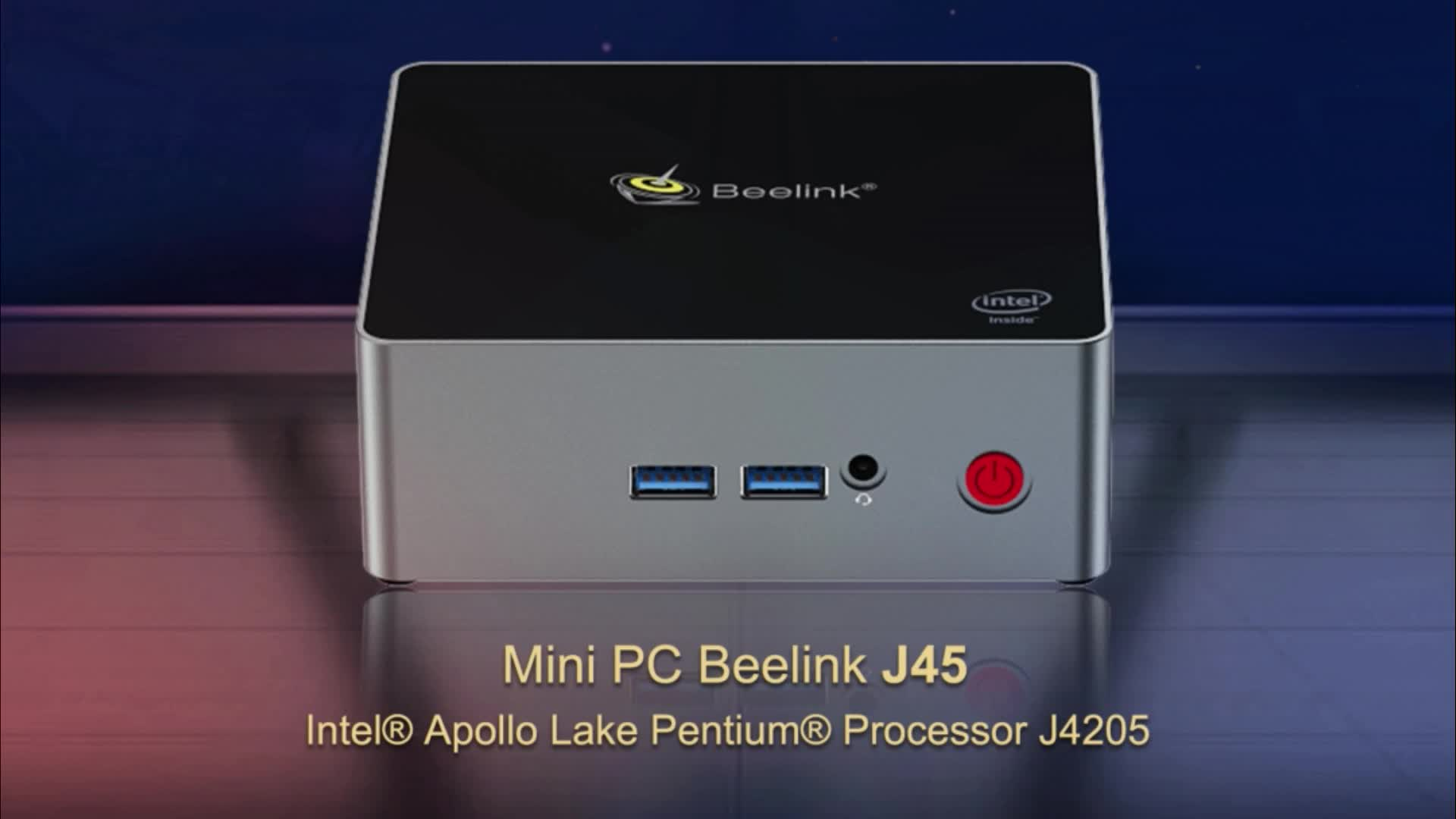Smarture DDR4 8 ГБ 256 ГБ MSATA Beelink J45 Mini PC ЦП процессора Apollo Lake J4205 мини-компьютер Beelink J45
