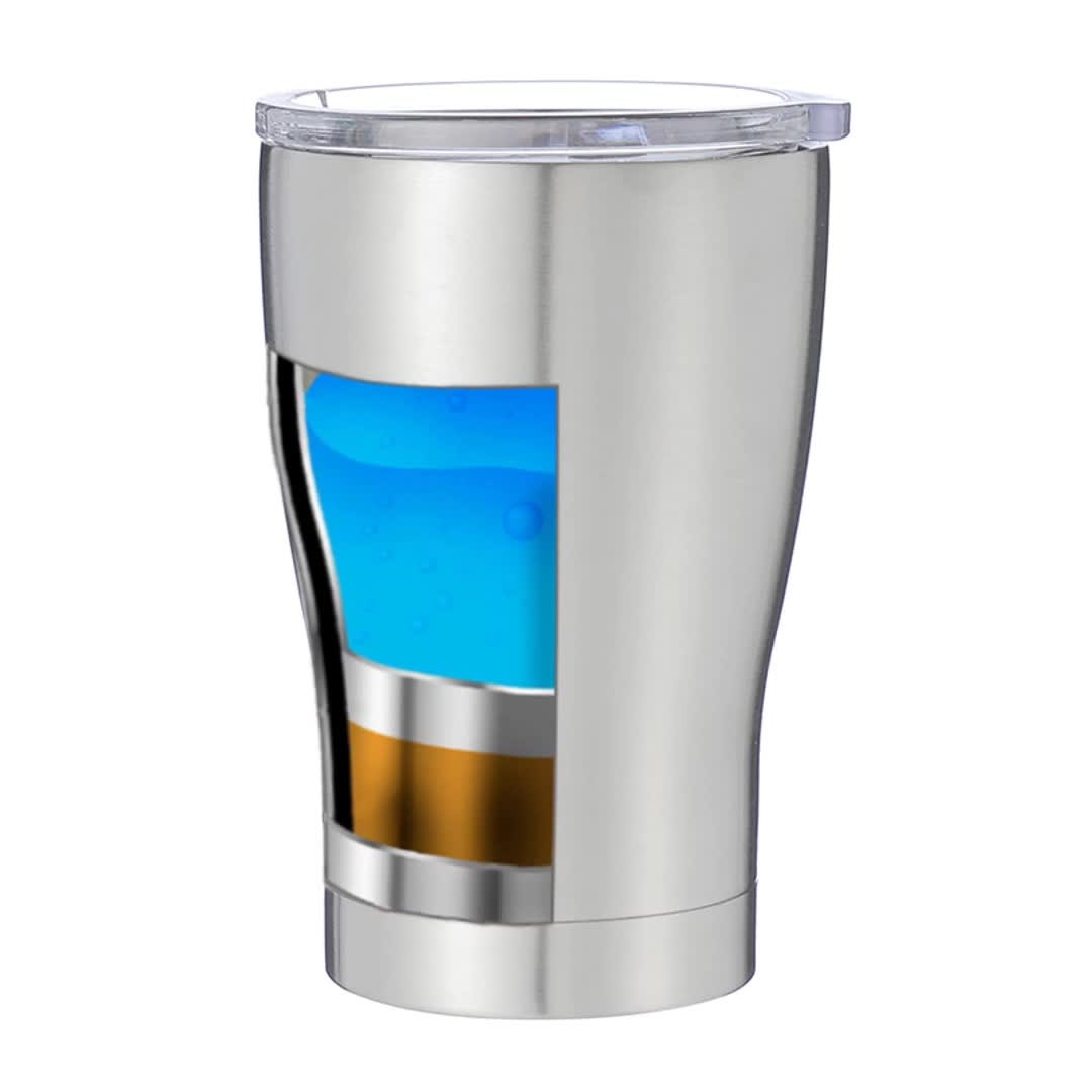 12oz Modern Curve Double Wall Stainless Steel Kids Tumbler