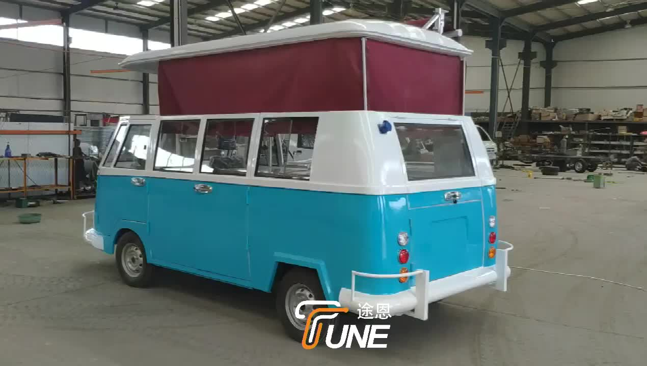 Best quality mobile food cart towable VW food truck for sale
