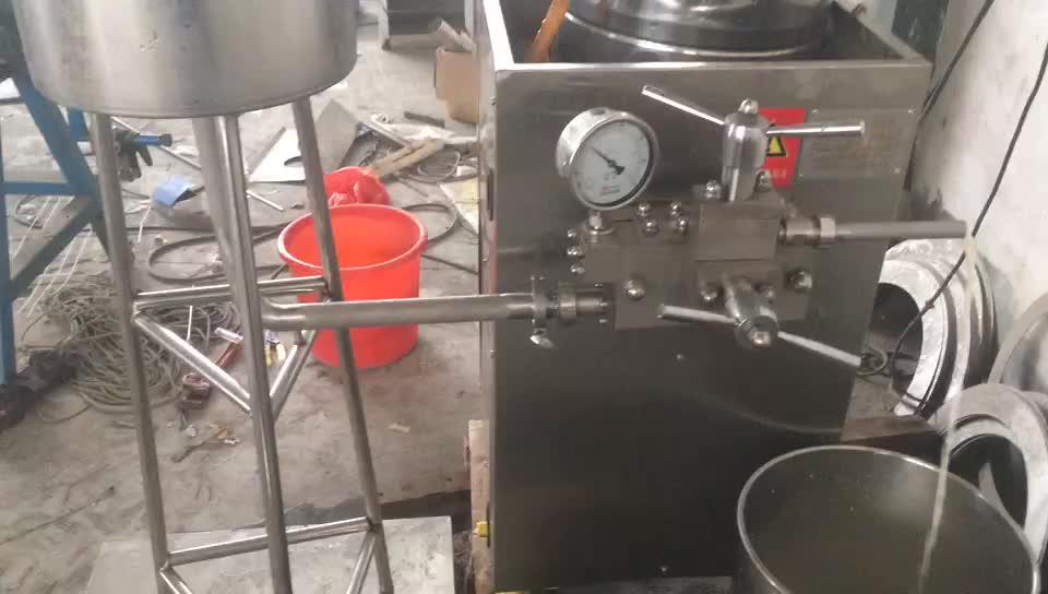 बिक्री के लिए छोटे दूध homogenizer मशीन कीमत नियंत्रण दबाव दूध homogenizer कॉस्मेटिक homogenizer