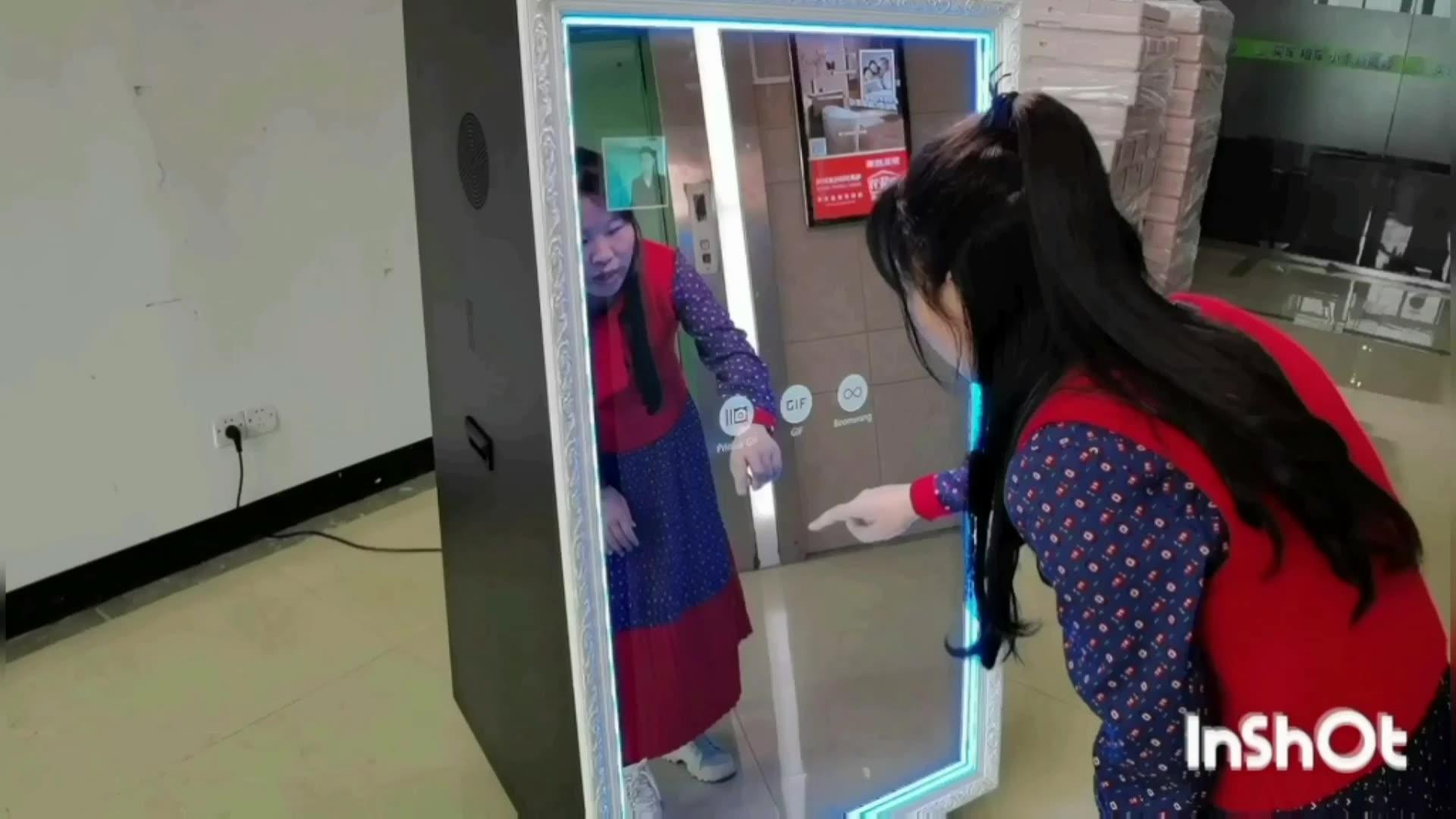 65 بوصة ماجيك Selfie مرآة التلقائي كابينة تصوير للتسوق مول موقف Photobooth مع كانون كاميرا