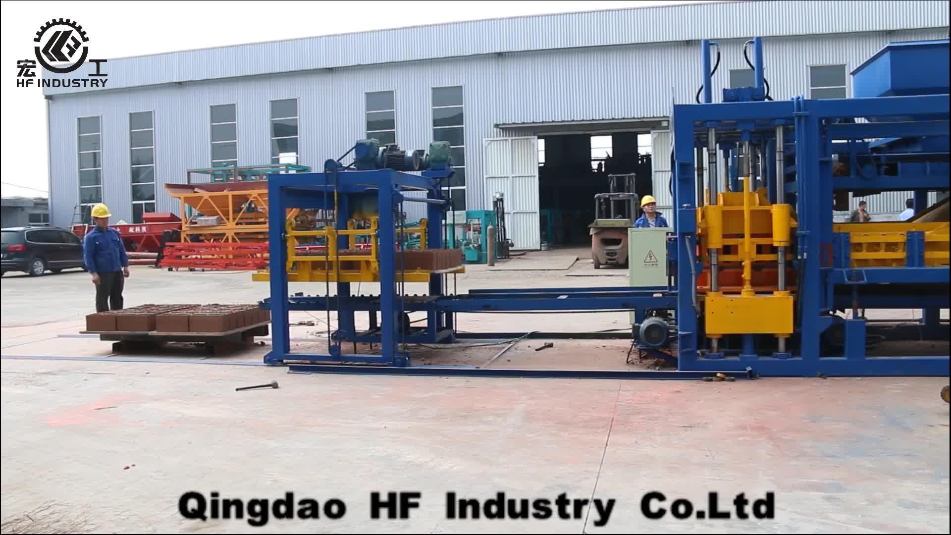 QT10-15 high quality full automatic concrete cement hollow block brick interlock paver making machine price in India