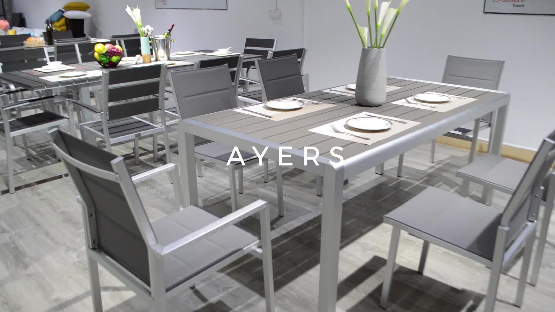 नई अवधारणाओं उद्यान आउटडोर फर्नीचर मेज कुर्सियों patio डाइनिंग सेट के लिए बिक्री