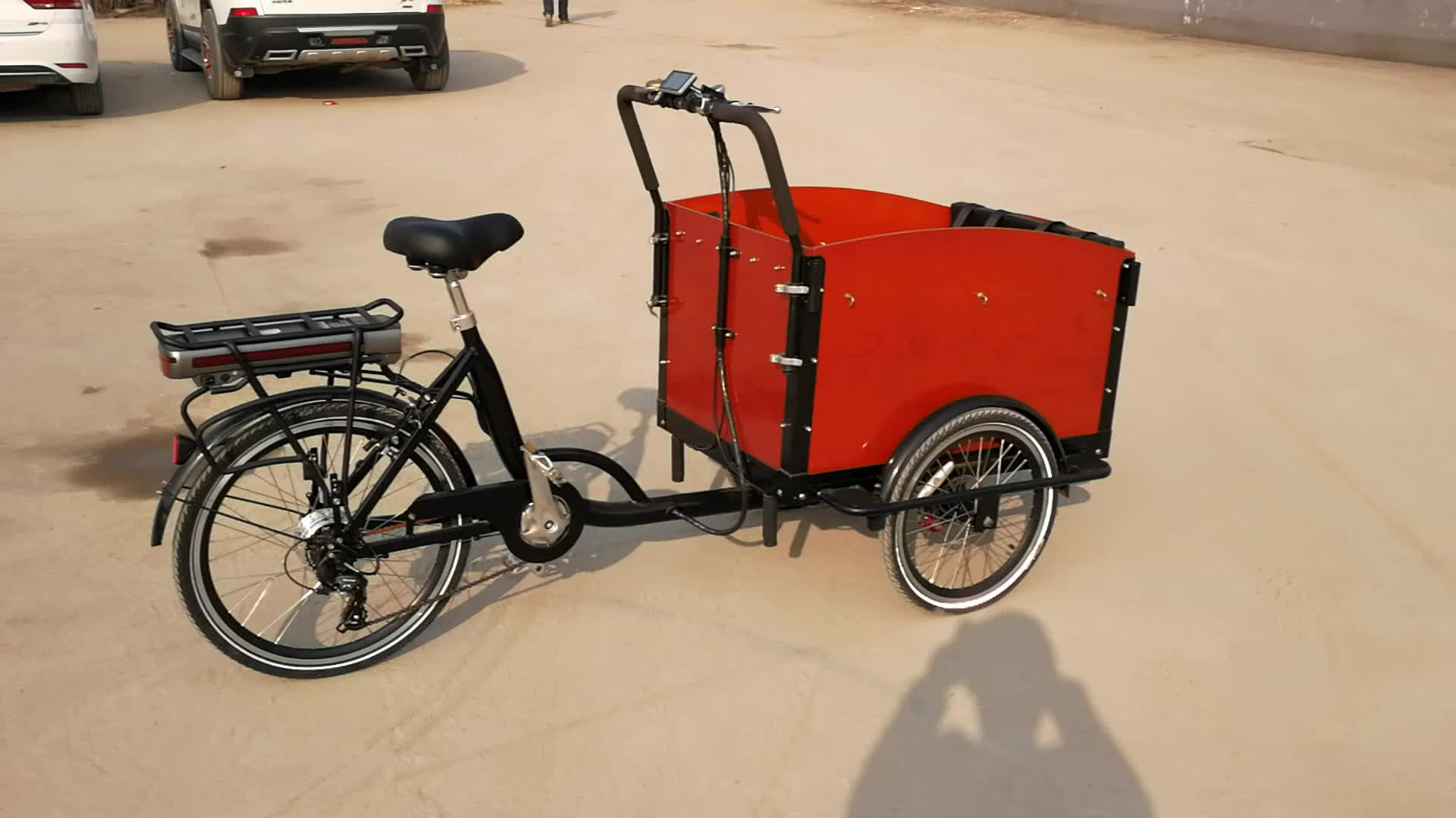 3 wheel tuk tuk cargo electric bike CE approved adult chassis tricycle for sale