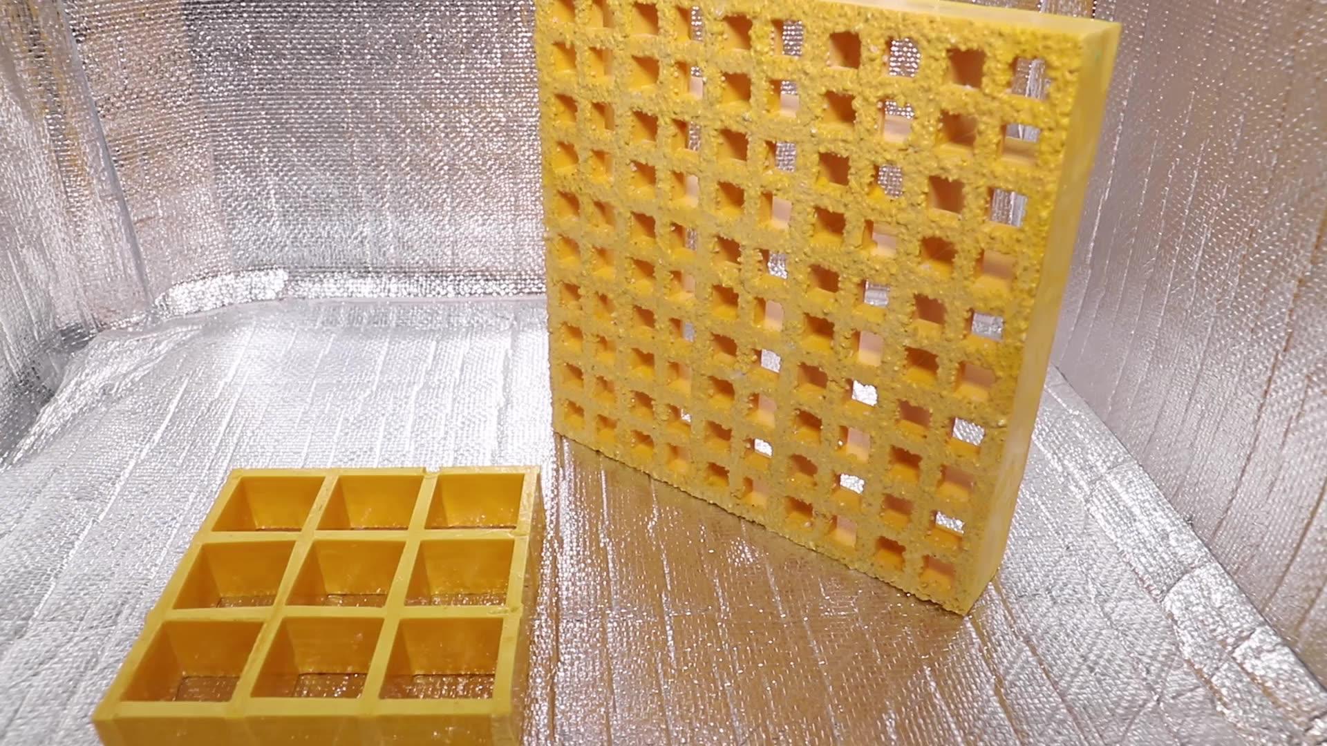 De alta resistencia de malla duradera pasarela de fibra de vidrio Frp rejilla