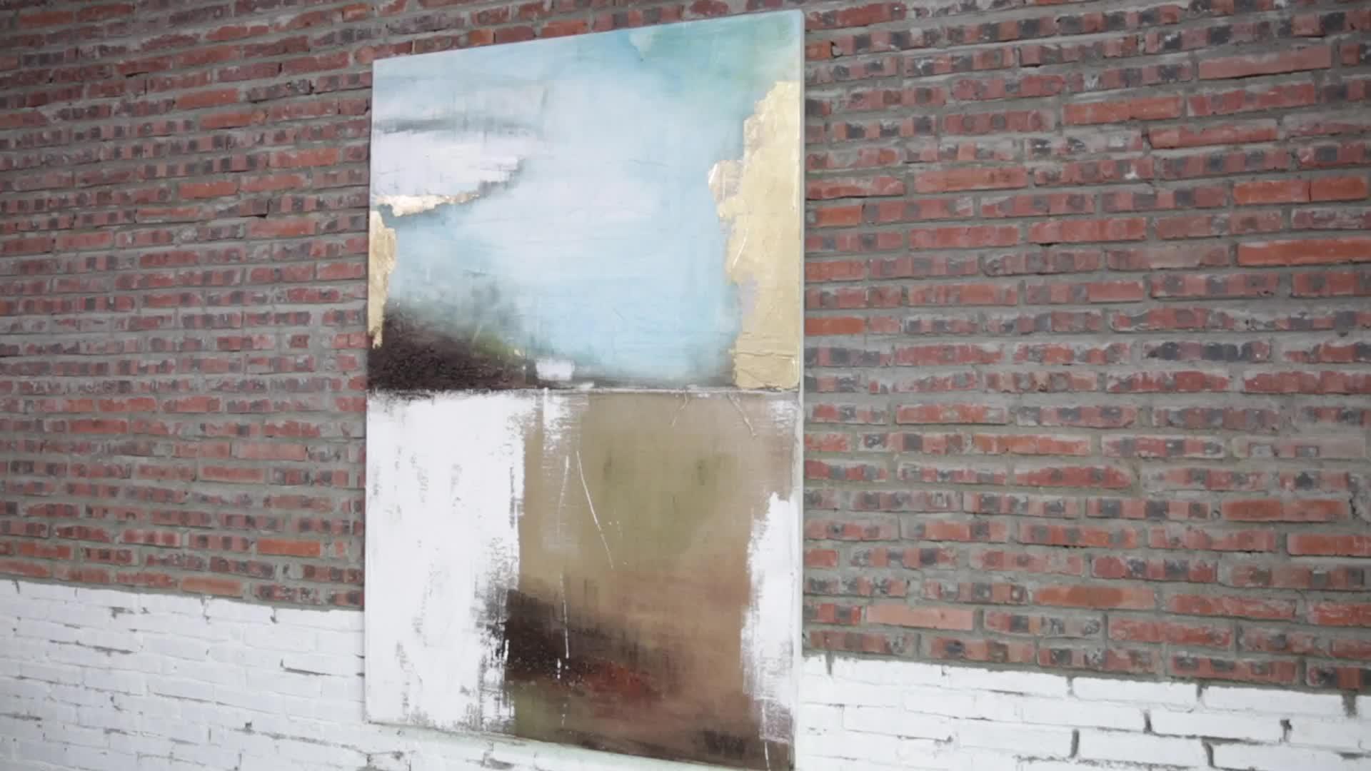 맞춤 인쇄 추상 유화 3d 말 벽 아트 패브릭 캔버스 회화