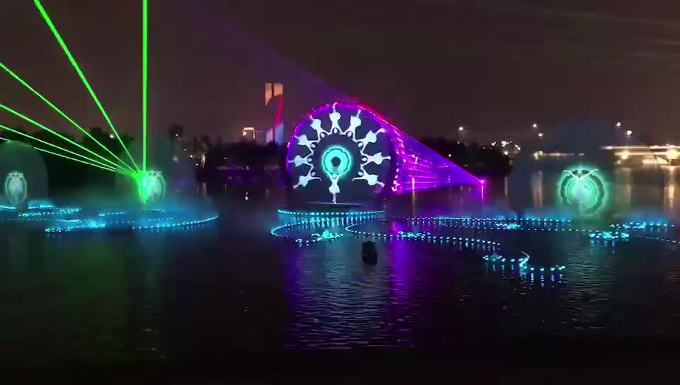 Digital Dancing Water Fountain Outdoor Water Screen Movie Fountain