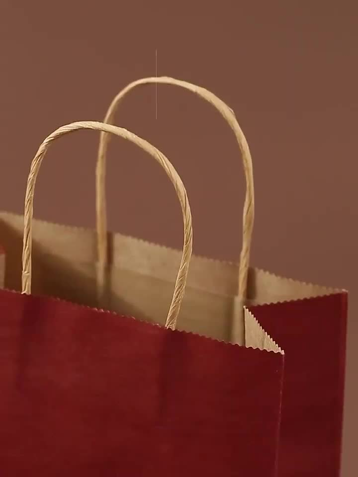 Customized take out fast food paper bag with your own logo