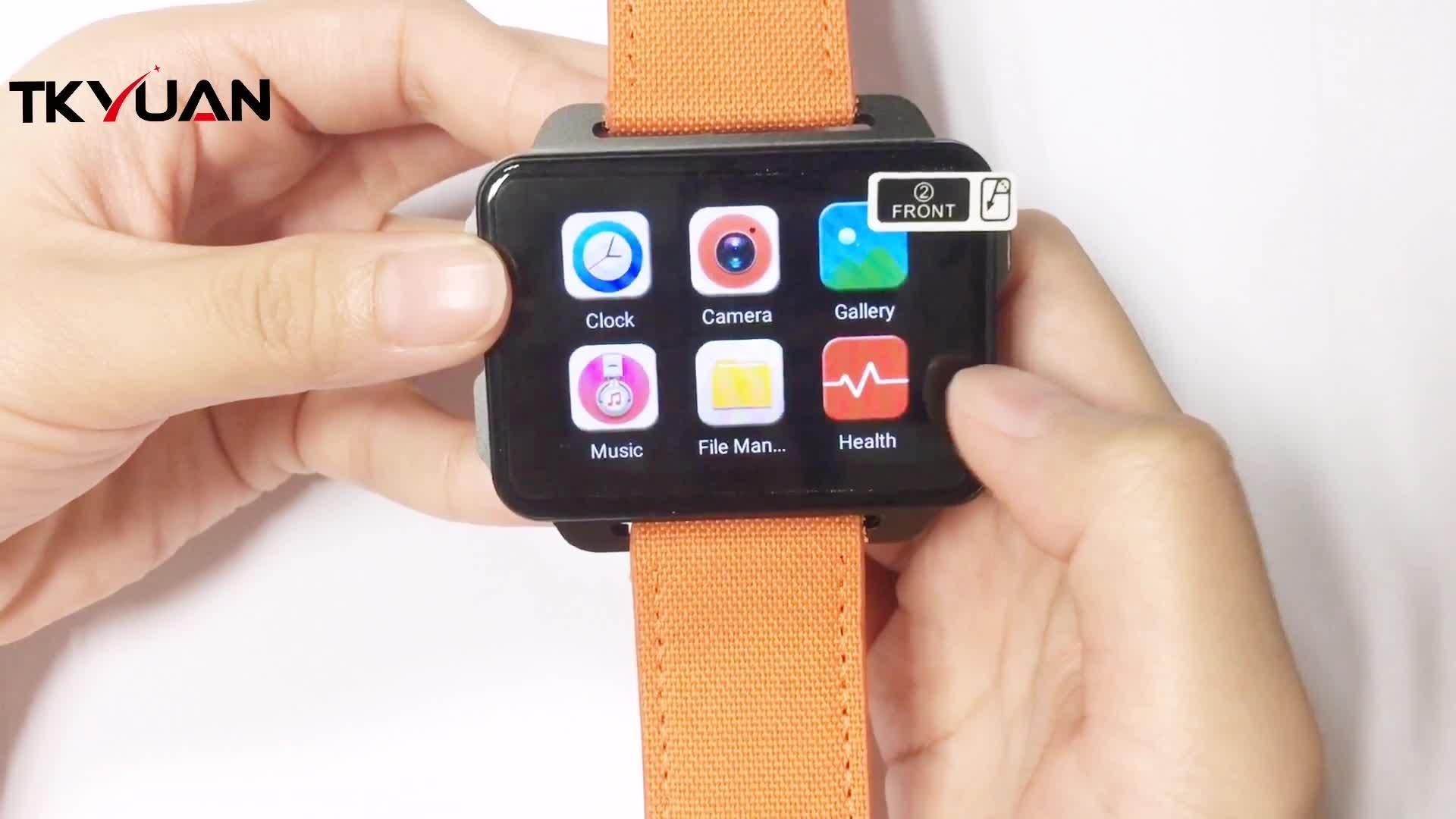 Android relógio 3g telefone, gps/wifi internet 3g cartão sim gps móvel do relógio telefone do relógio android com skype/telefone de chamada de vídeo relógio
